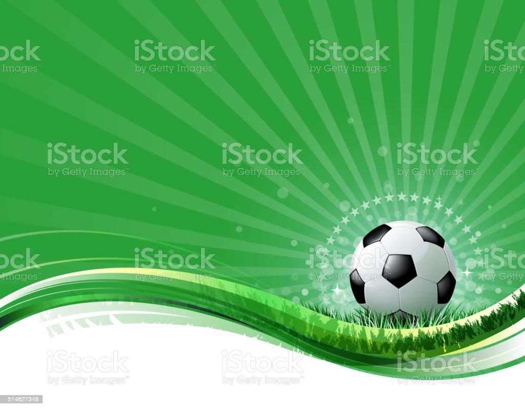 bright soccer background vector art illustration