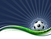 bright soccer ball wave