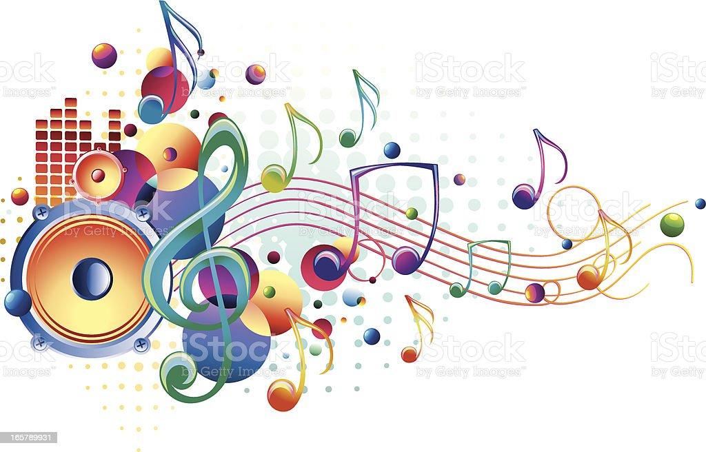 Bright Sound royalty-free stock vector art