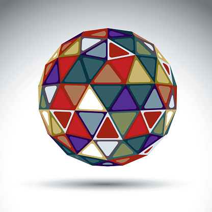 Bright spherical object with kaleidoscope effect