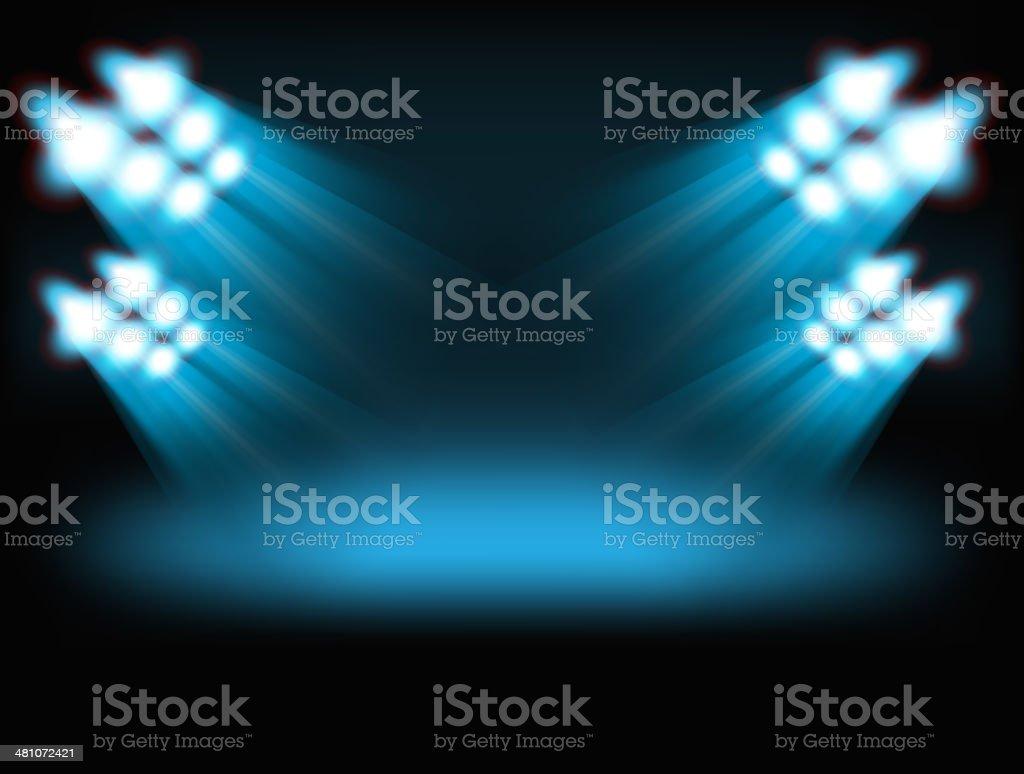 Bright spot lights vector art illustration