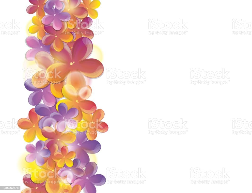 Bright Spring Flowers Greeting Card Stock Vector Art More Images