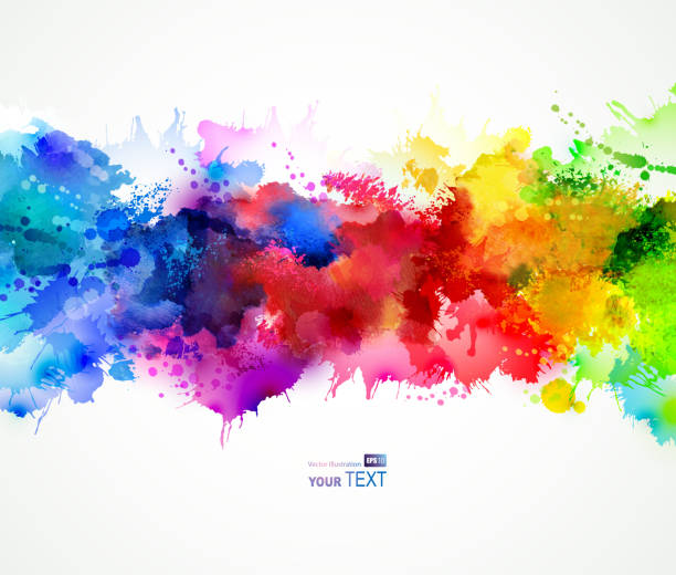 bright  stains bright background with watercolor stains splattered stock illustrations