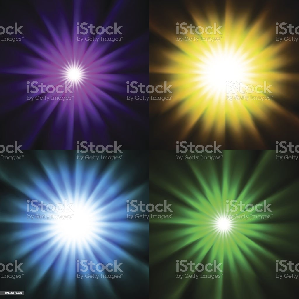 Bright star light backgrounds royalty-free stock vector art