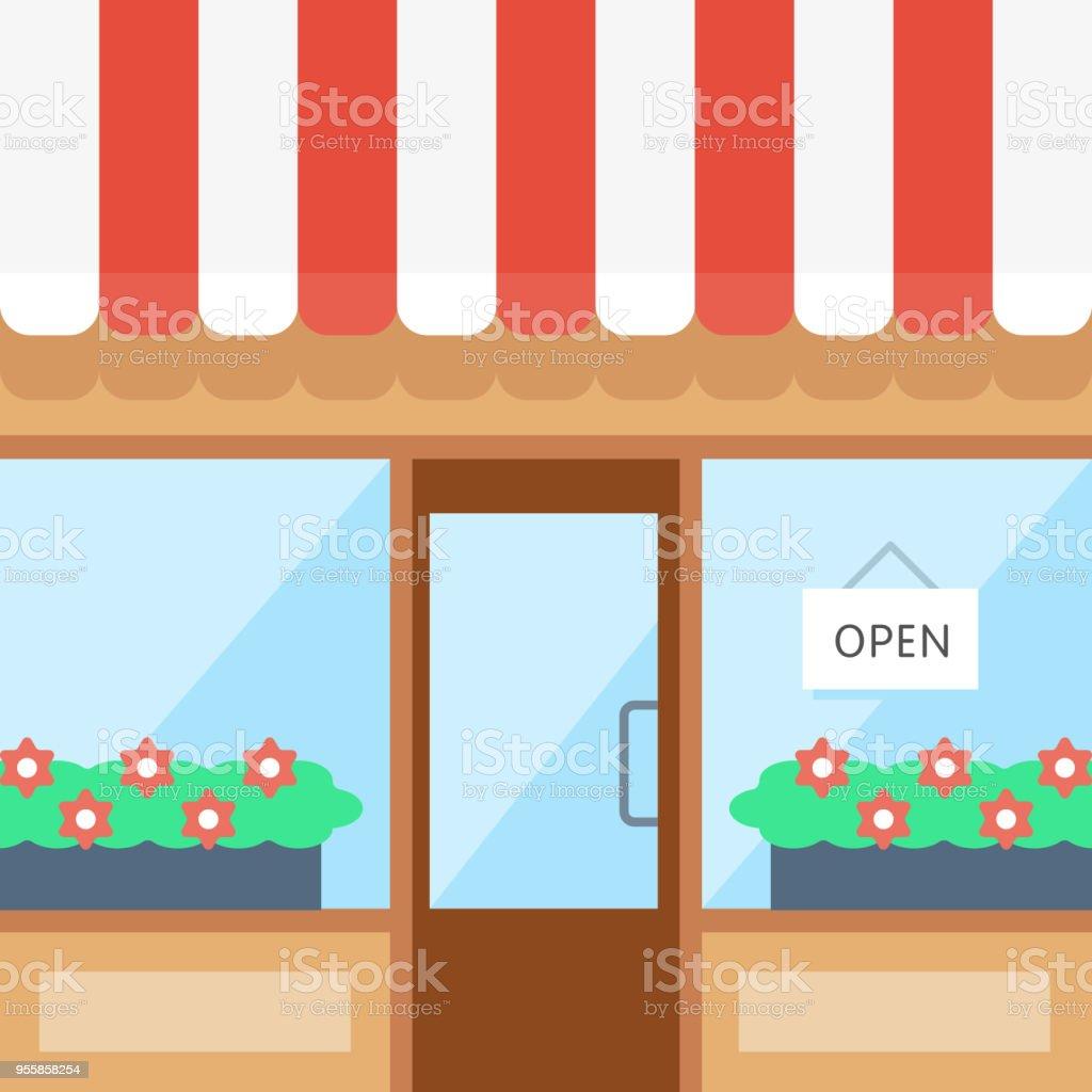 Bright Storefront Illustration vector art illustration