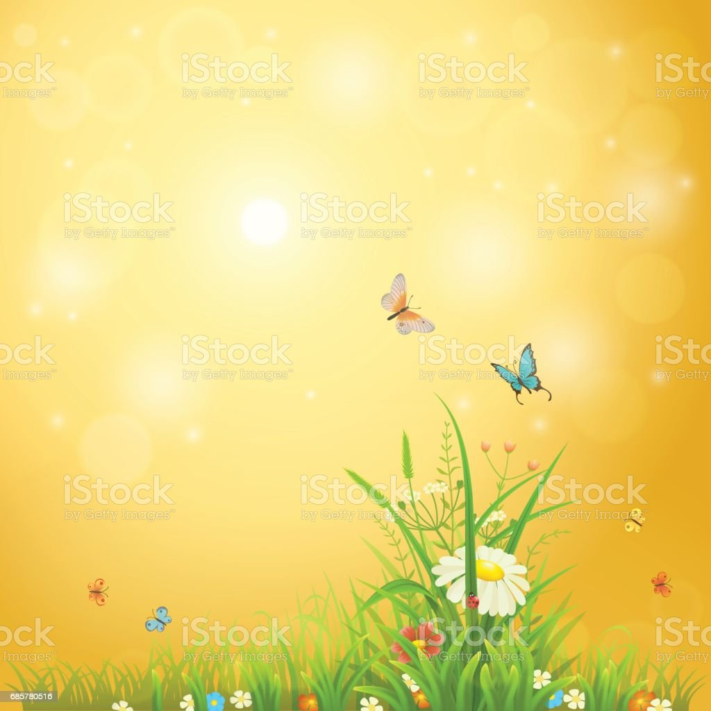 Bright summer background Lizenzfreies bright summer background stock vektor art und mehr bilder von abstrakt