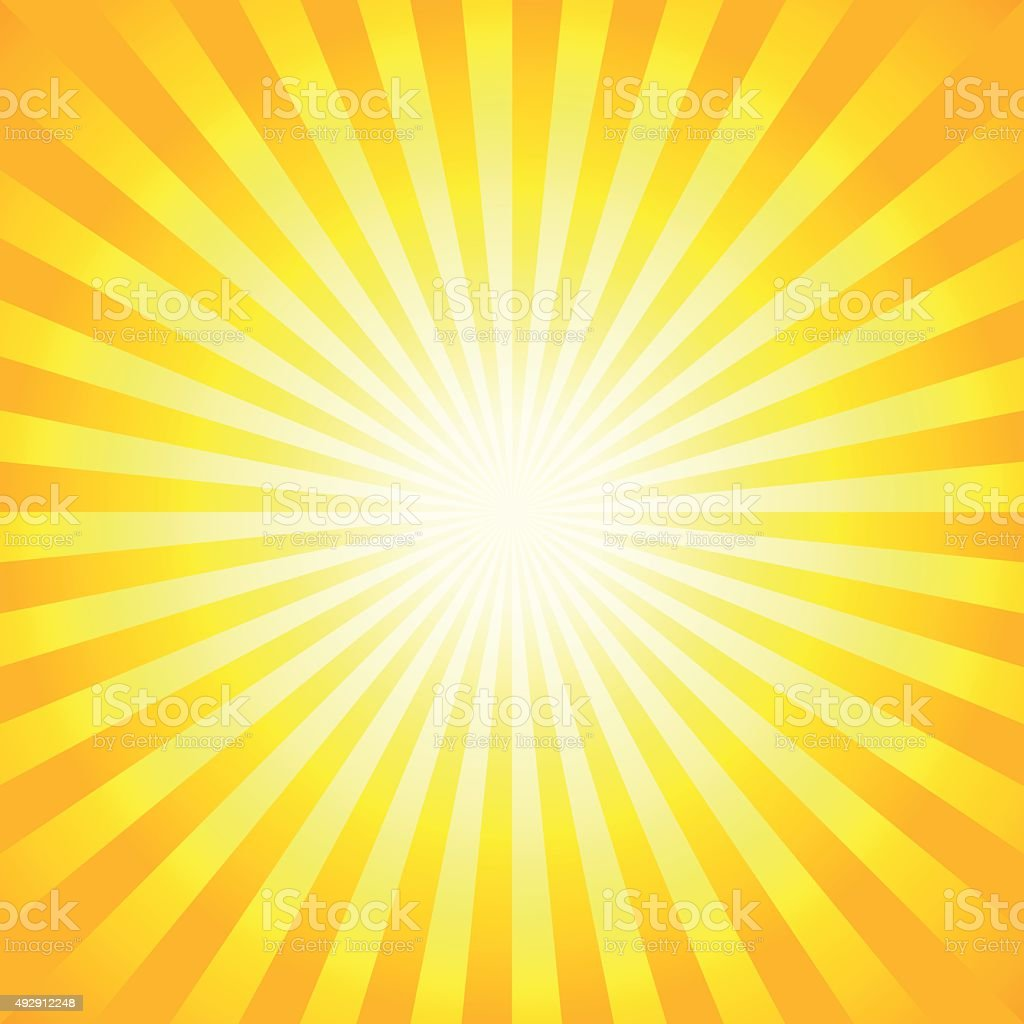 Bright sunbeams, shiny summer background. vector art illustration