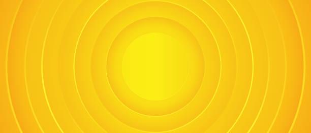 밝은 햇볕이 잘 드는 노란색 동적 추상적 인 배경. 모던 레몬 오렌지 색상. - 노랑 stock illustrations