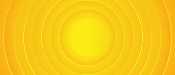 bildbanksillustrationer, clip art samt tecknat material och ikoner med ljust soligt gul dynamisk abstrakt bakgrund. modern citronapelsa färg. - gul