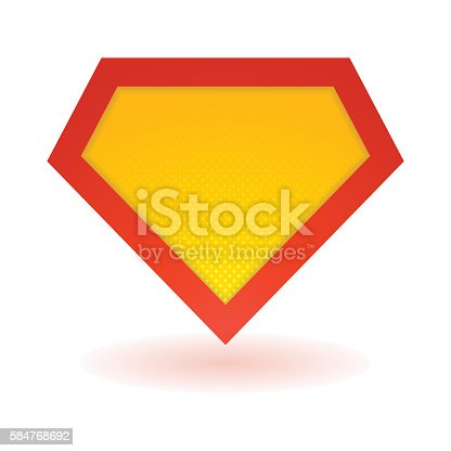 Superhero bright logo template. Vector isolated eps10