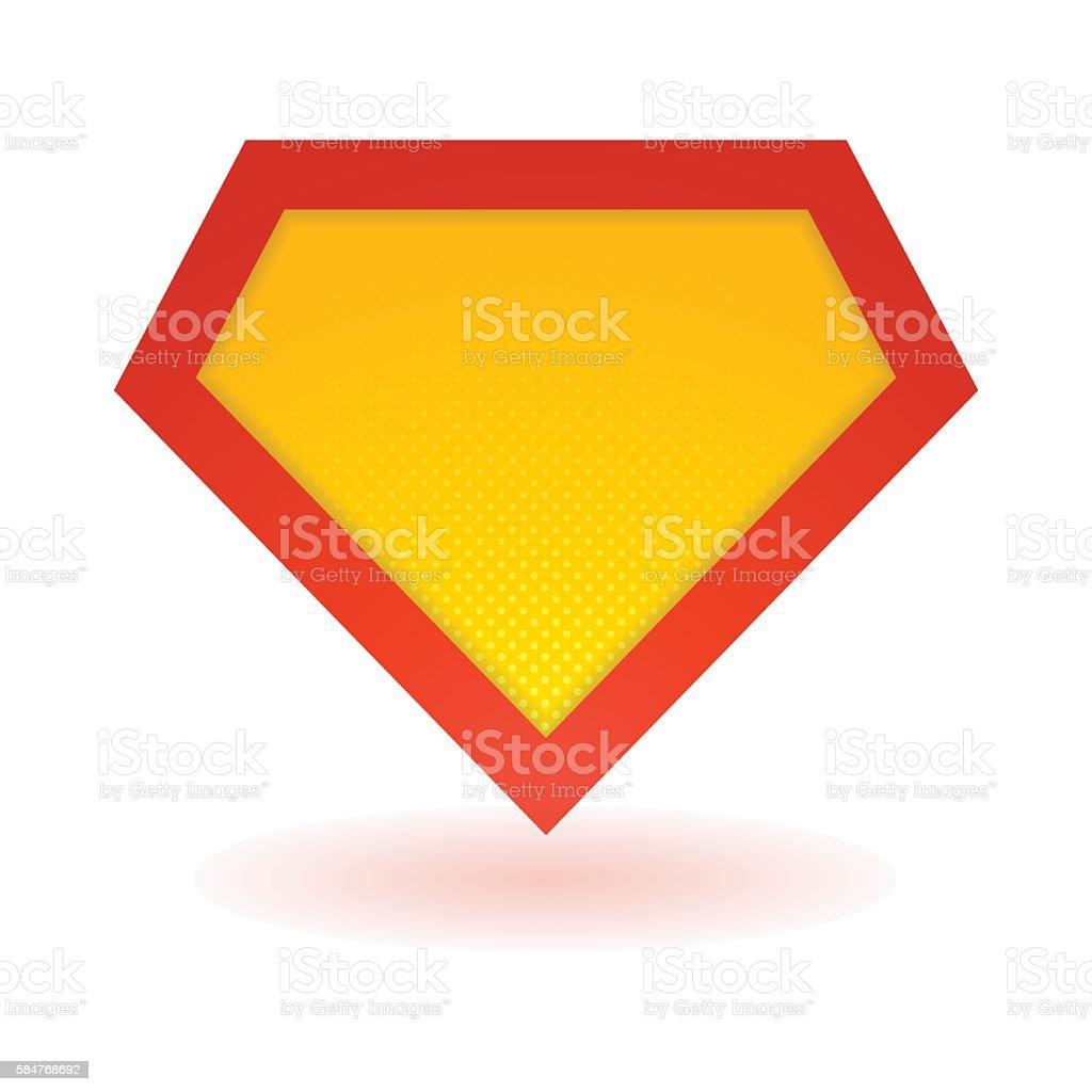 Bright superhero symbol vector art illustration