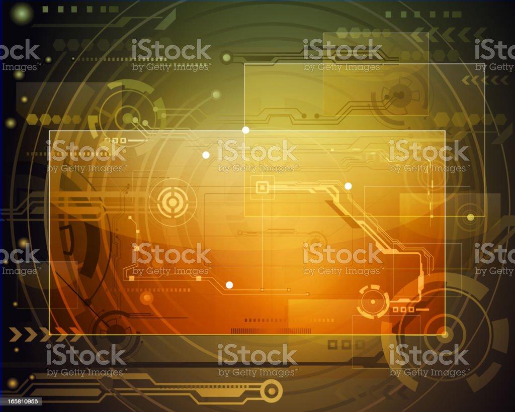 Bright Technical Background vector art illustration