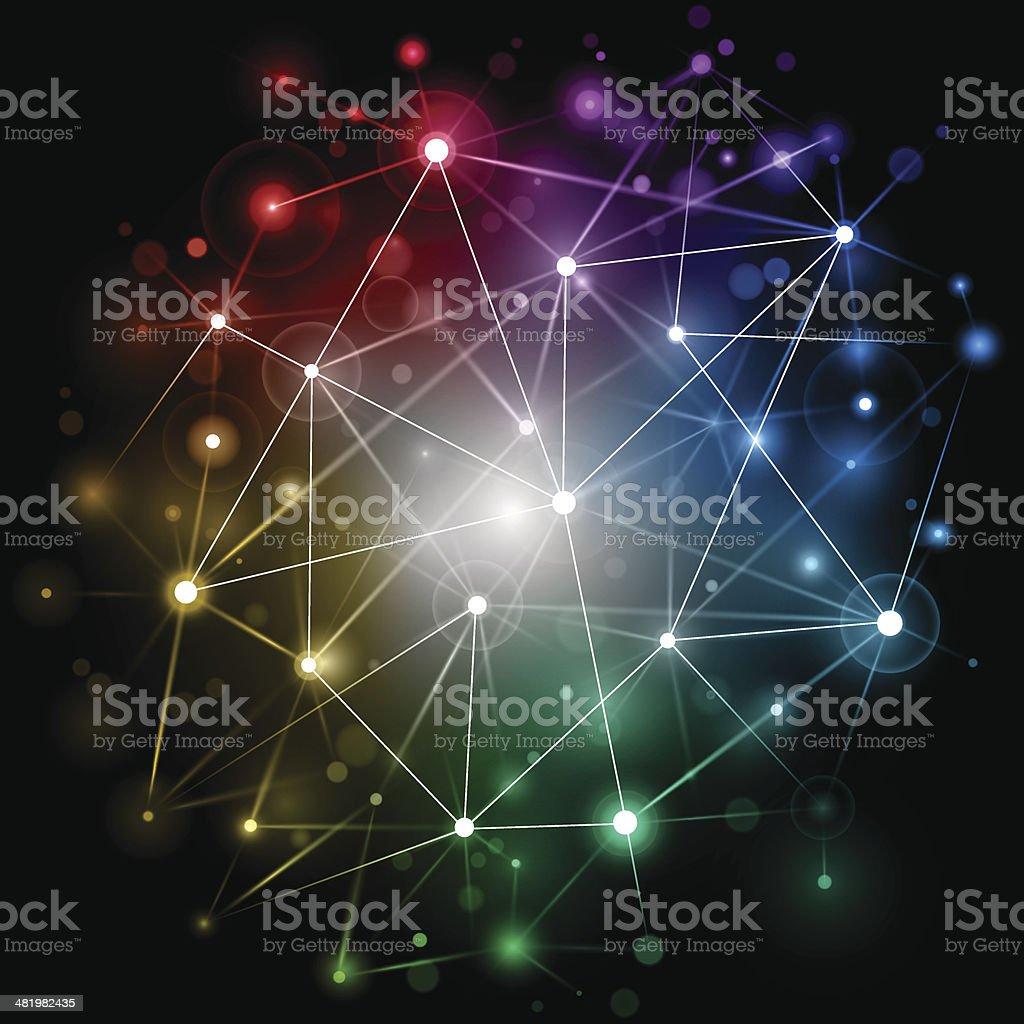 Bright technology network vector art illustration