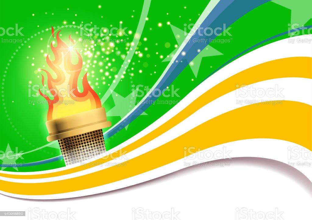 bright torch vector art illustration