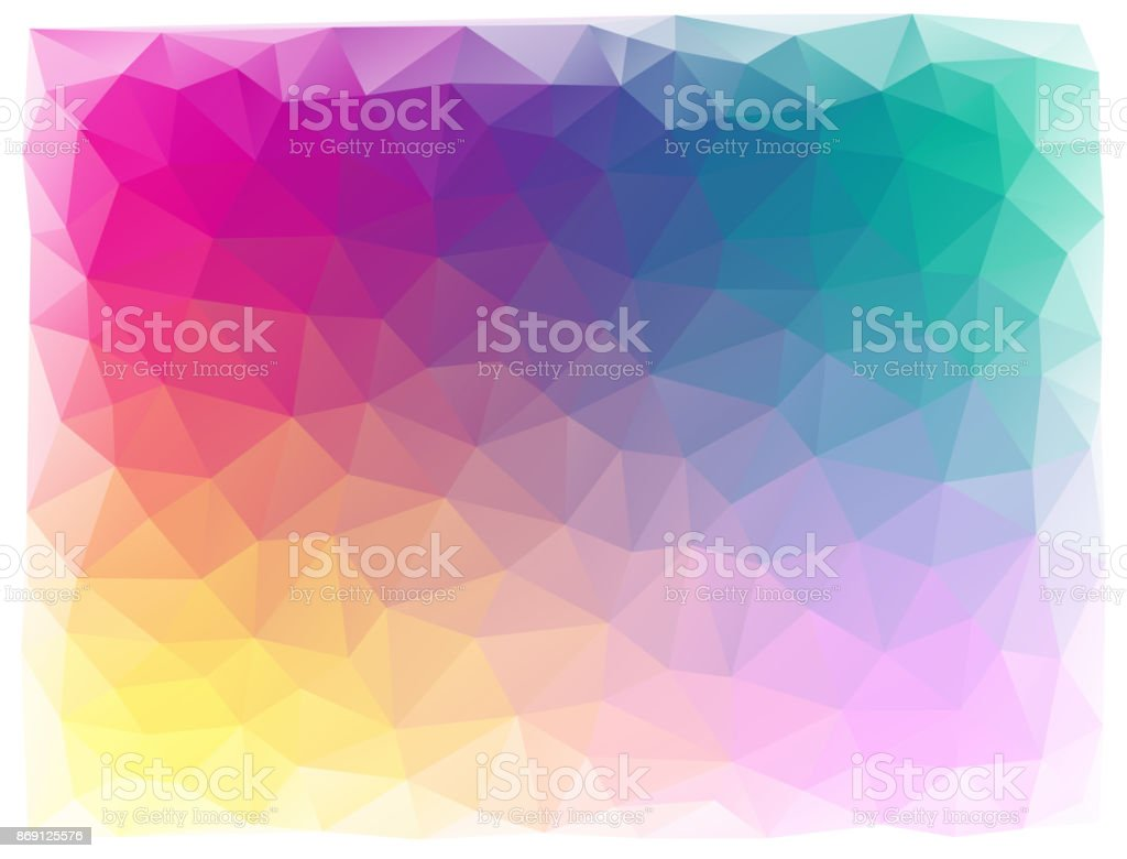 bright triangular abstract background vector art illustration
