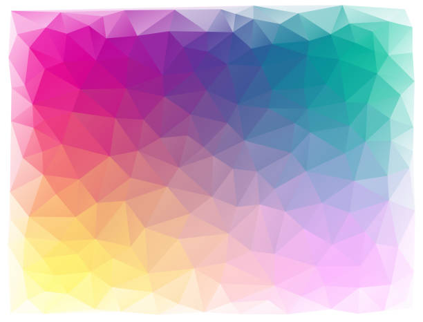 bright triangular abstract background - polygon background stock illustrations