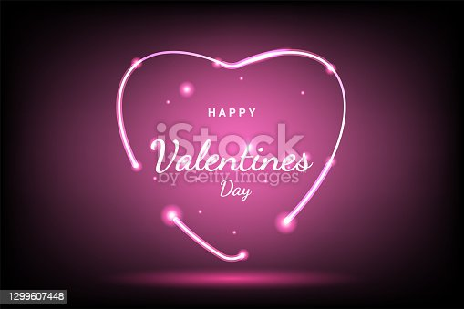 """istock Bright Valentine`s day background, small hearts, in red colors""""nVector illustration. Cute love banner or greeting card. Place for text 1299607448"""