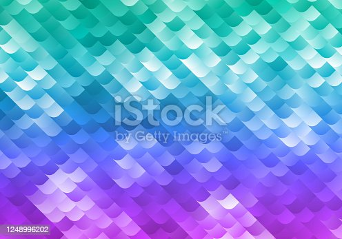 istock Bright Vector Background with Green, Blue and Purple Gradient. Colorful Shiny Texture for Night Party Banners 1248996202