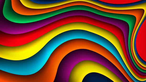 Fondo ondulado colorido vector brillante - ilustración de arte vectorial