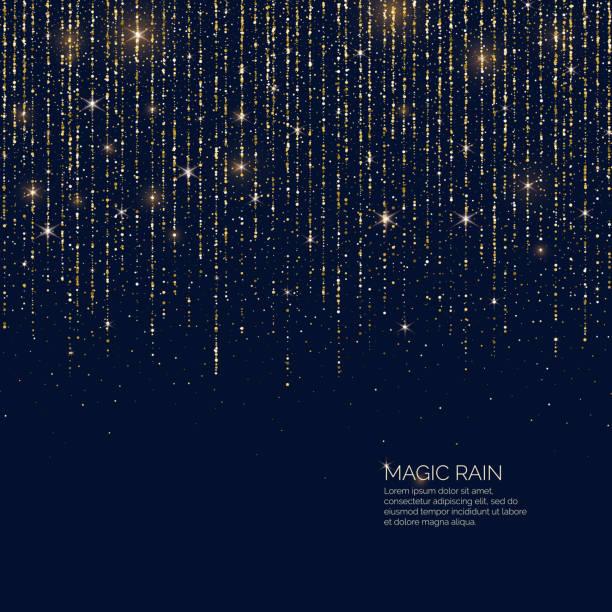 明るいベクトル イラスト輝くキラキラ粒子線の魔法雨。 - glitter curtain点のイラスト素材/クリップアート素材/マンガ素材/アイコン素材