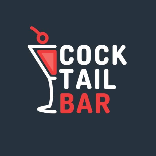 カクテルバーの明るいベクトル イラスト。機関の元の符号 - アルコール飲料点のイラスト素材/クリップアート素材/マンガ素材/アイコン素材