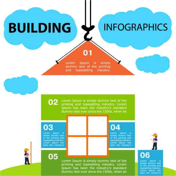 illustrations, cliparts, dessins animés et icônes de illustration lumineuse de vecteur sur le thème du bâtiment. maison lumineuse construite, - nuage 6