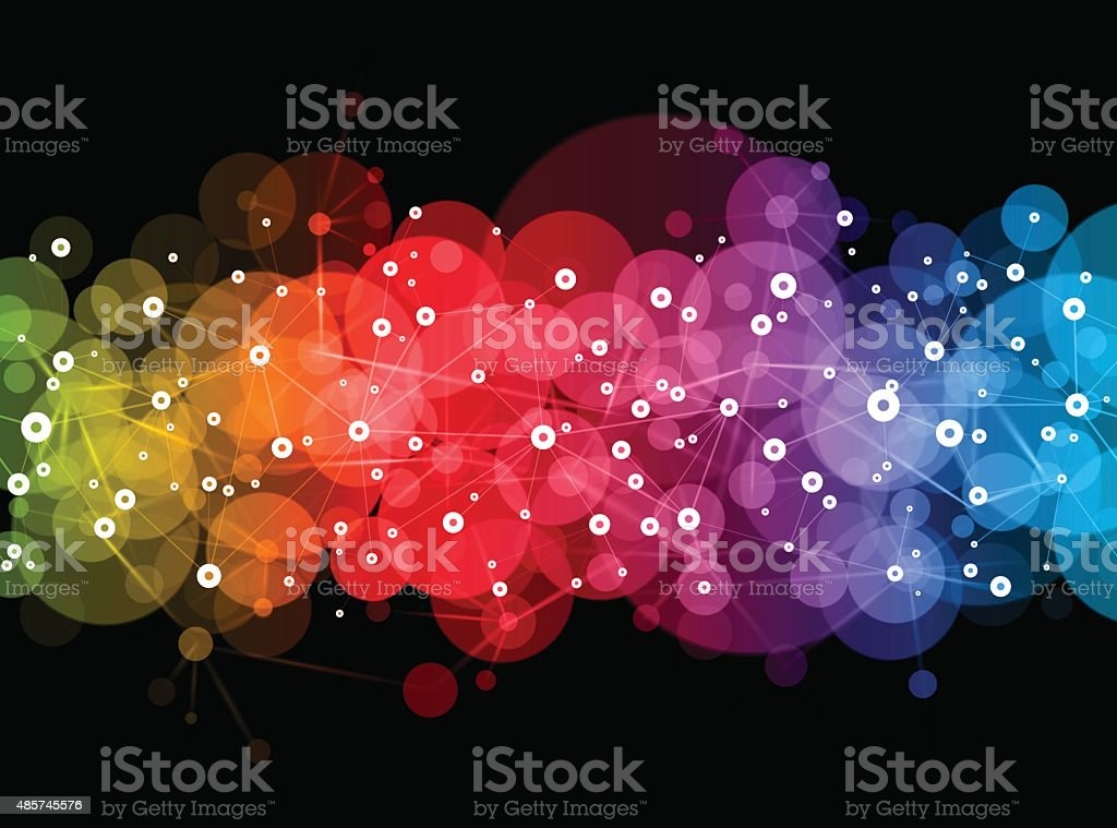 Bright Vector Network design vector art illustration