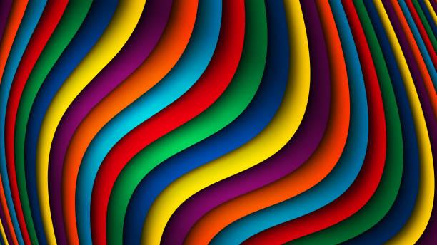 ilustraciones, imágenes clip art, dibujos animados e iconos de stock de fondo de arco iris rayado vector brillante - fondos coloridos