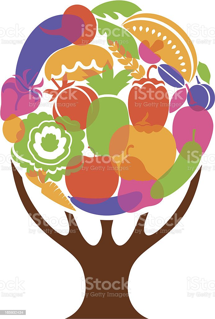 Bright vegetable tree royalty-free stock vector art