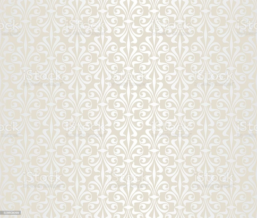 Bright Wedding Vintage Wallpaper stock vector art 528608099 iStock