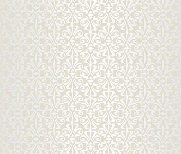Helle Hochzeit vintage Tapete – Vektorgrafik