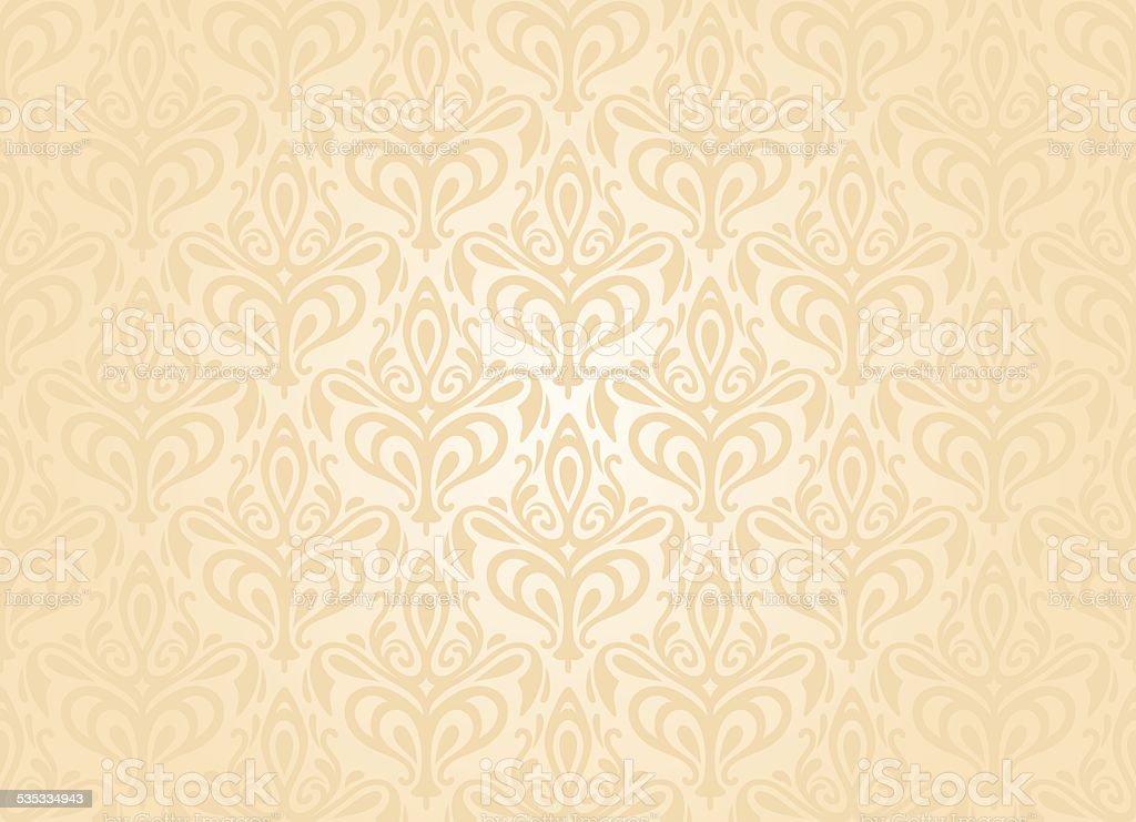 Bright wedding vintage wallpaper stock vector art - Papel pared vintage ...