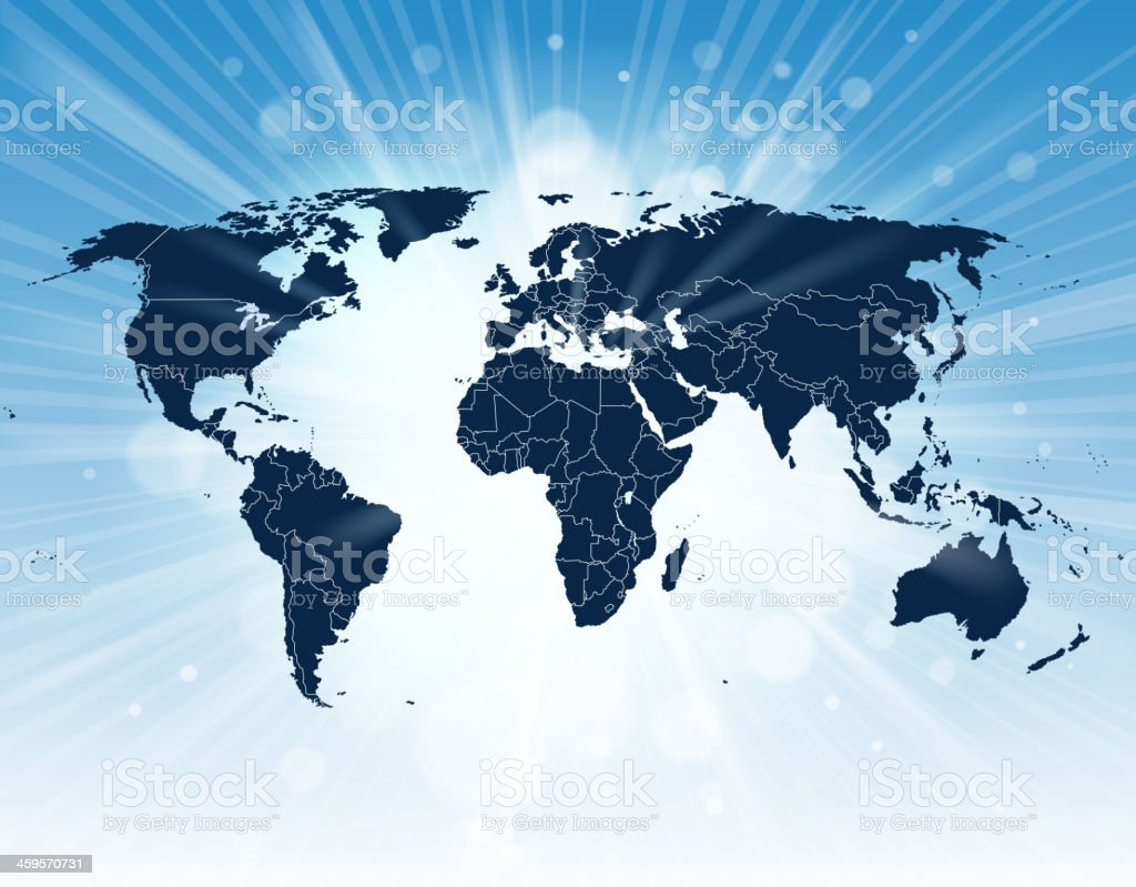 bright world map and continents royalty-free bright world map and continents stock vector art & more images of africa