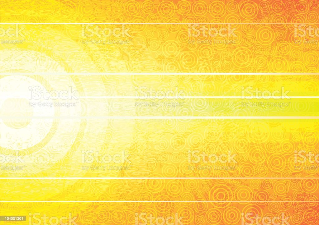 Bright yellow abstract background with white lines vector art illustration