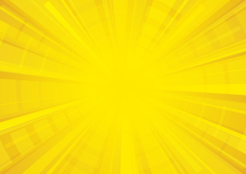 Yellow exploding star textured surface background vector illustration