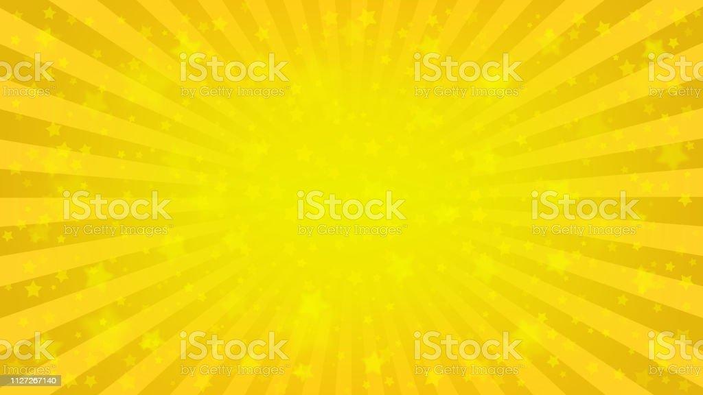 Fundo estrelado amarelo brilhante - Vetor de Abstrato royalty-free