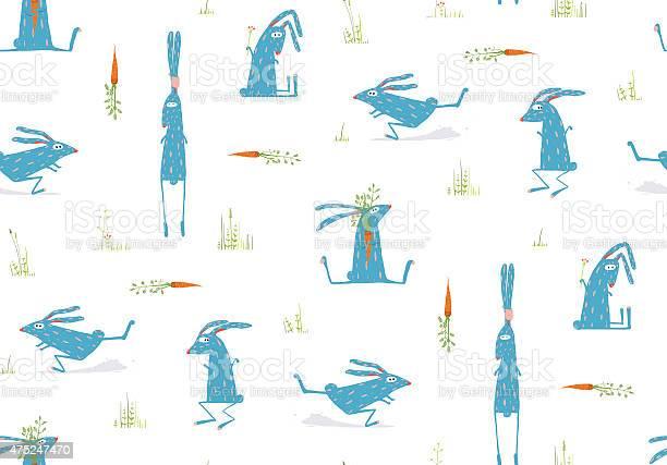 Brightly colored fun cartoon rabbits animals seamless pattern vector id475247470?b=1&k=6&m=475247470&s=612x612&h=sb6dz9pvvinqybkcrfft3kco9auhzgb4giae3zmqmp0=