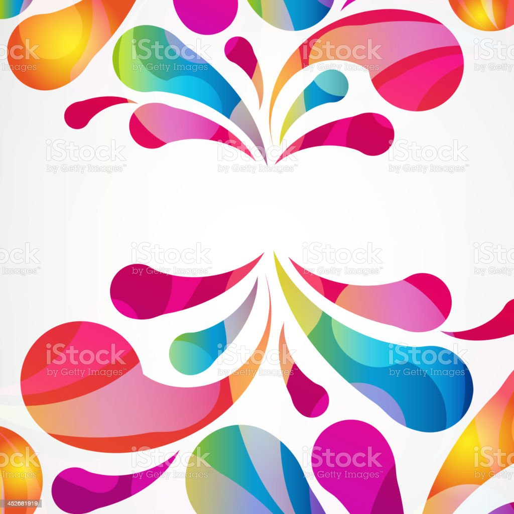Brightly colored pattern on white background vector art illustration