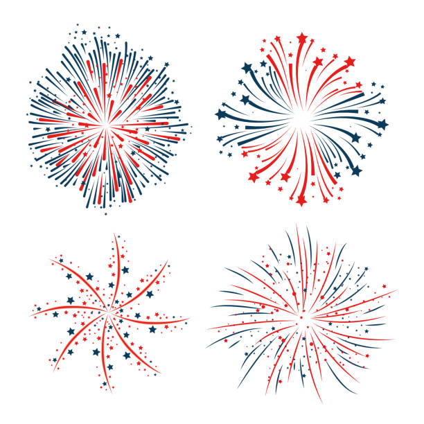 Green Fireworks Illustrations Illustrations, Royalty-Free ...