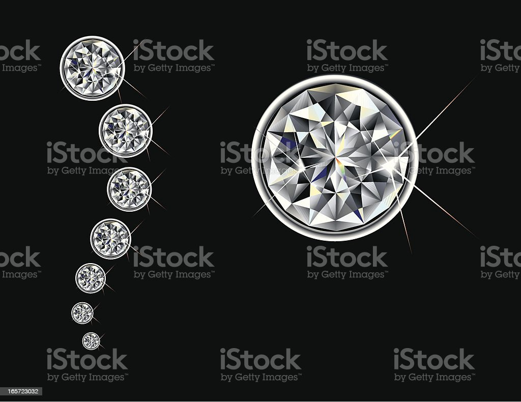 Brilliant Cut Diamond royalty-free stock vector art