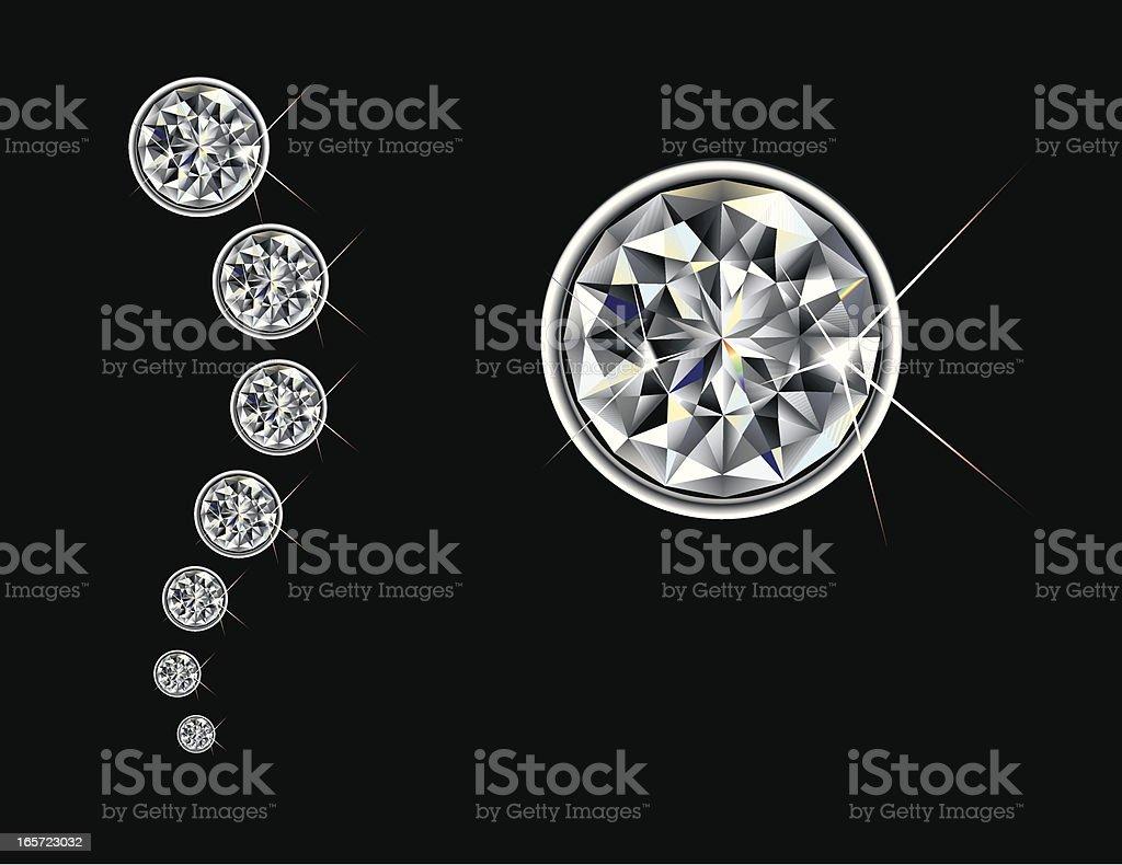 Brilliant Cut Diamond vector art illustration