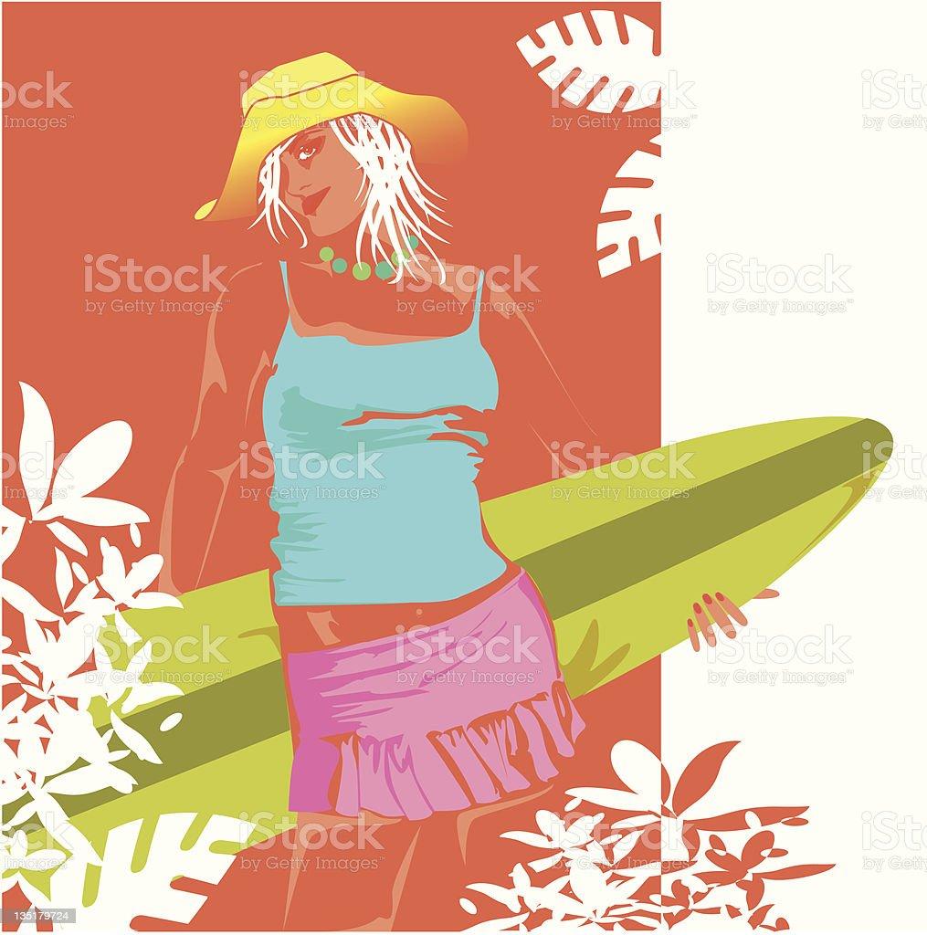 Bring me the waves cowboy! royalty-free stock vector art