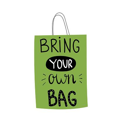 Bring your own bag lettering.