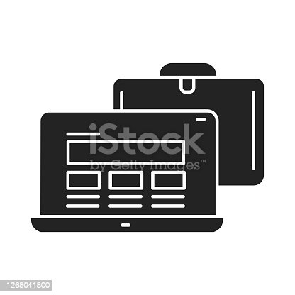 Bring your own device BYOD icon. Refers to being allowed to use one's personally owned device. Pictogram for web page, mobile app, promo. UI UX GUI design element. Editable stroke.