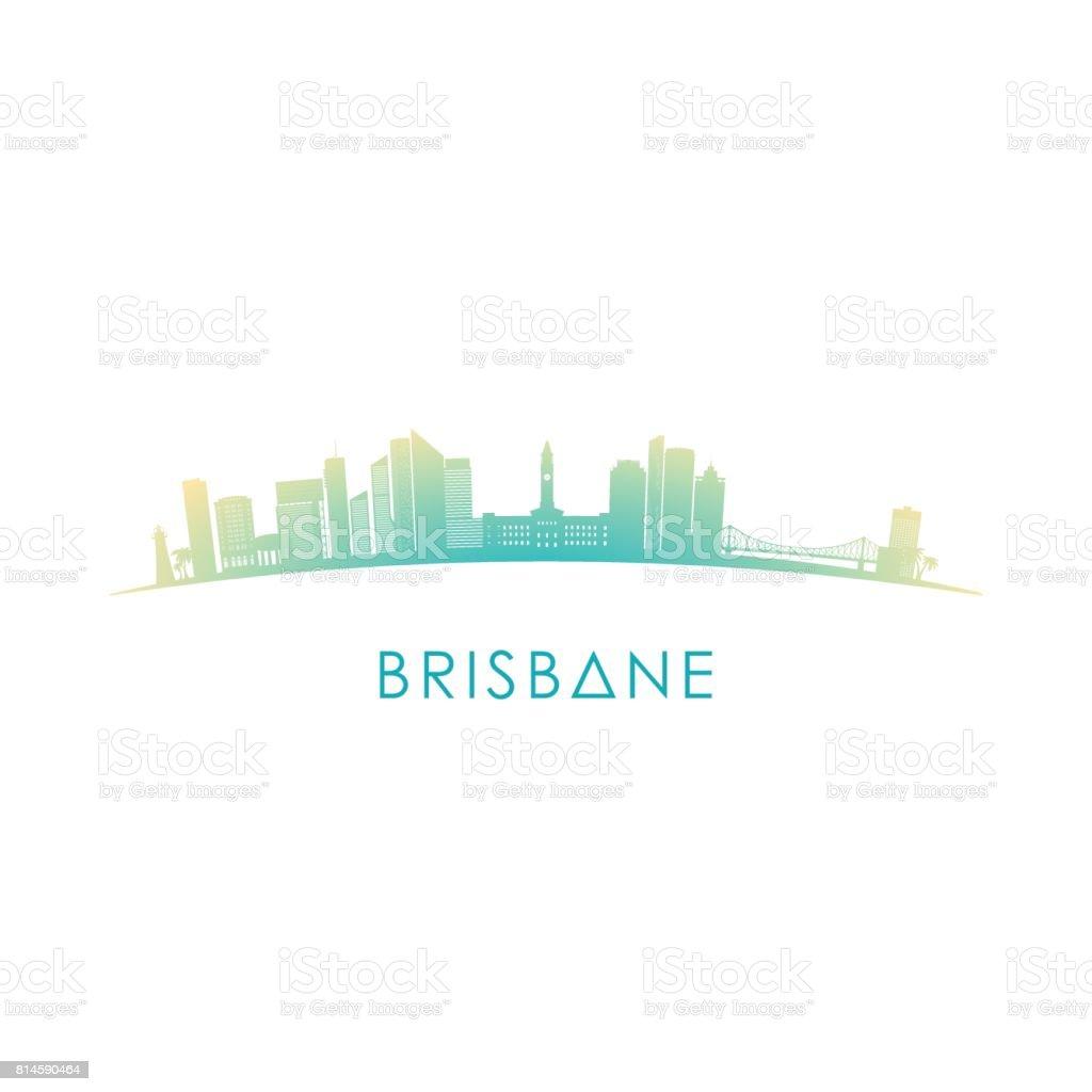 Brisbane, Australia skyline silhouette. Vector design on white background. vector art illustration