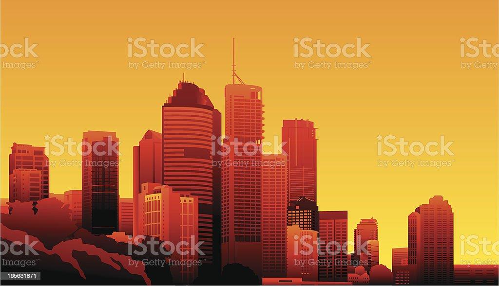 Brisbane, Australia vector art illustration