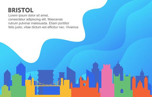 Bristol City Building Cityscape Skyline Dynamic Background Illustration
