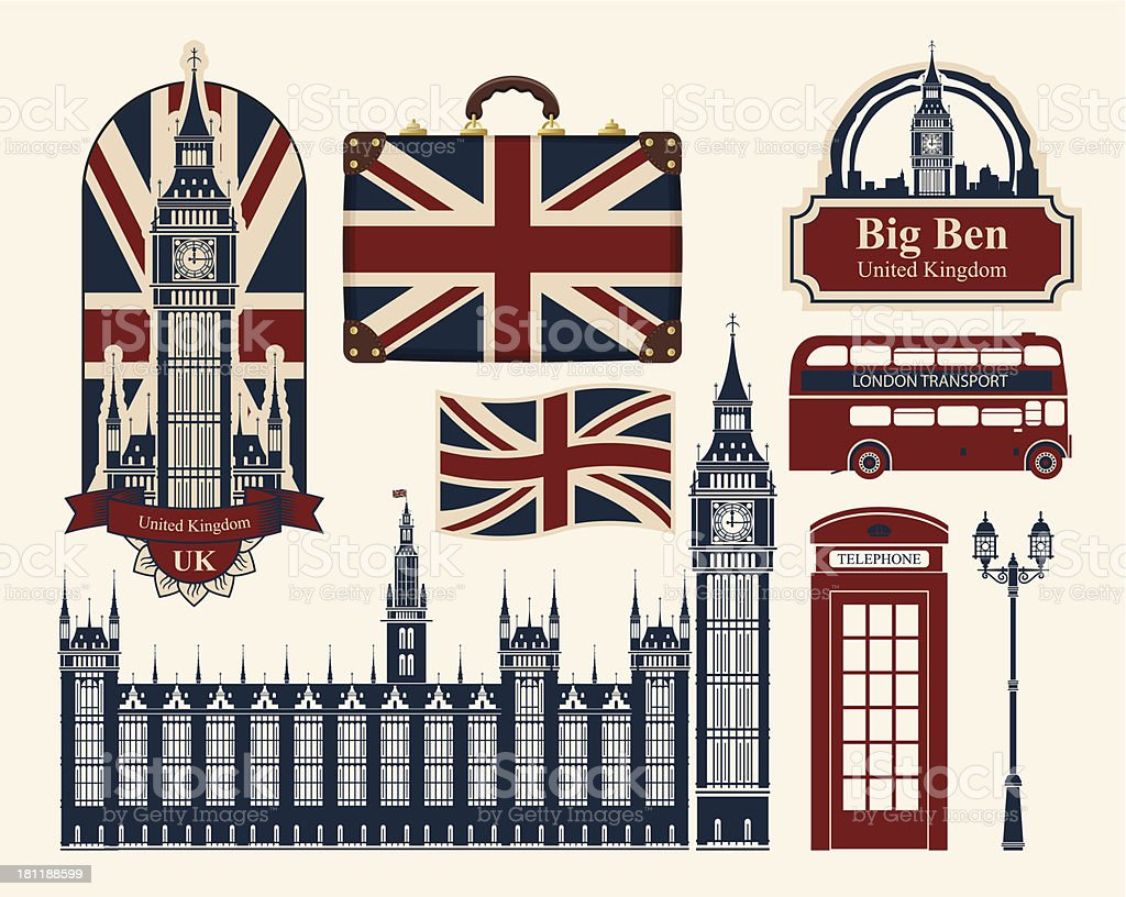Britain and London vector art illustration