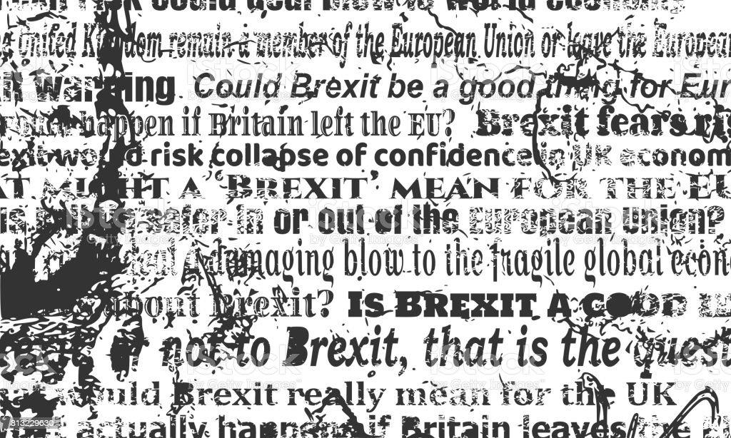 Britain exit from European Union. Brexit vector art illustration