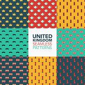 Britain Seamless Pattern Set